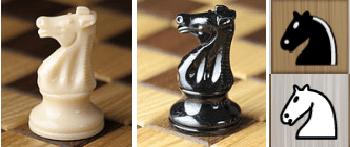 названия фигур шахматы конь