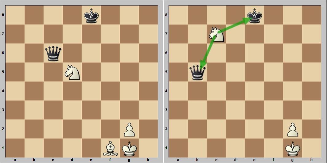 Двойной удар шахматы видео