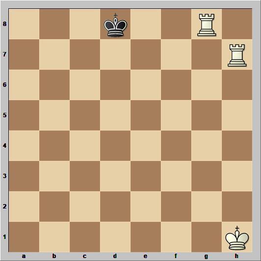 Линейный мат двумя ладьями одинокому королю