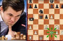 Магнус Карлсен создает шедевр шахматы