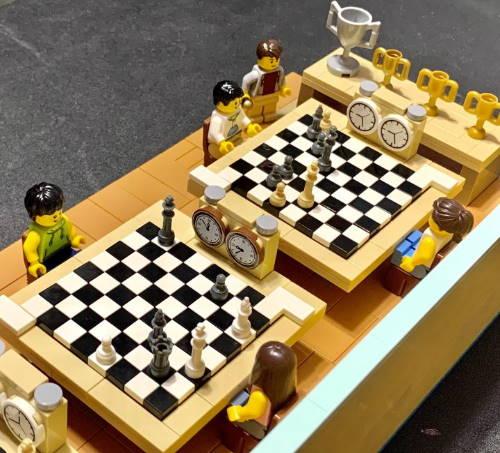 Шахматные зарисовки в Lego